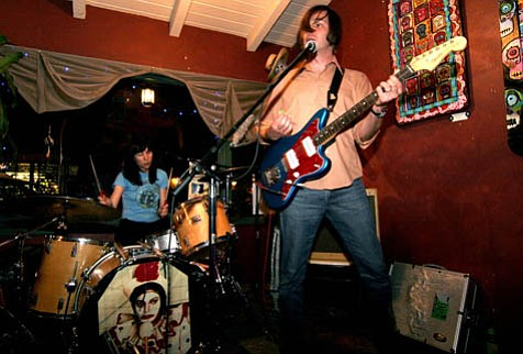 Rock duo The Spires tear it up at Muddy Waters Cafe as part of last weekend's Beehouse Records showcase.