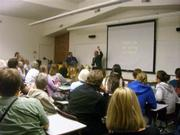More than 75 people attended a stargazing lecture by Martin George.