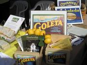 Old cartons of Goleta's finest lemons.