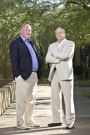 Jim Larkin and Mike Lacey, founders of <em>New Times</em>.