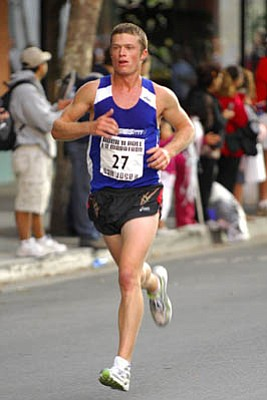 "UCSB alum J.T. Service heads to New York City this weekend for the U.S. Men's Marathon Trials for the 2008 Beijing Olympics. ""To finish in the top 25, it would be the race of my life,"" Service said."