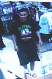 Do you know this kid? The cops want to arrest him for robbery. Here he is smiling at Sears while racking up an $800 tab.
