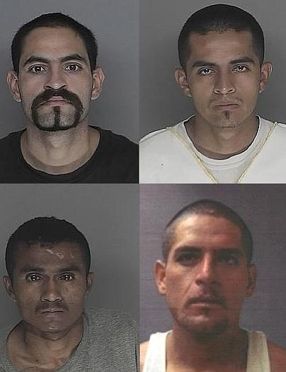 Clockwise from upper left are Jose Loza, Victor Hugo Garcia, Victor Amezcua, and Francisco Lopez.