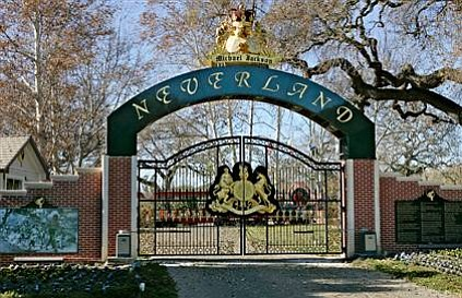 The gates of Neverland Ranch.