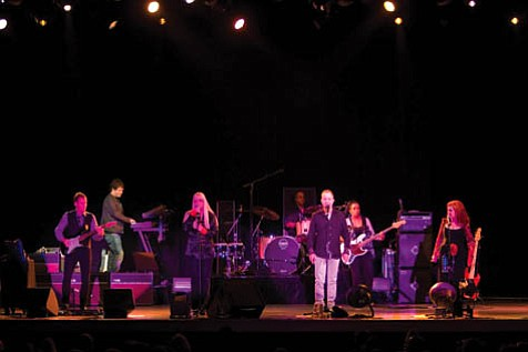 The founding members of The B-52's-(from left) Cindy Wilson, Fred Schneider, and Kate Pierson-rocked the house at the Chumash Casino Resort.