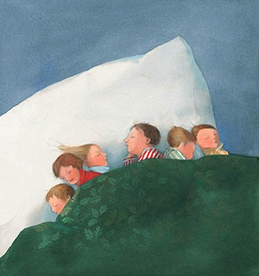 One of Lisbeth Zwerger's illustrations from <em>The Night Before Christmas</em>.