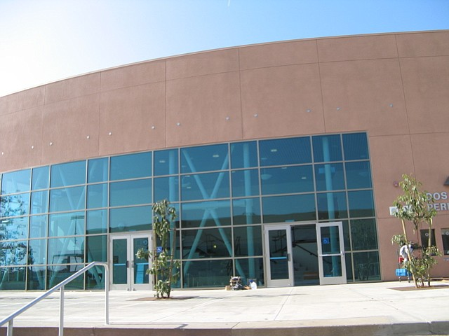 The entrance to the new performing arts center at Dos Pueblos High.