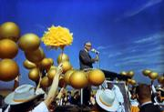 Barry Goldwater campaigns for president.