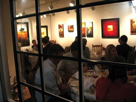 Dining at Gallery Ocho.