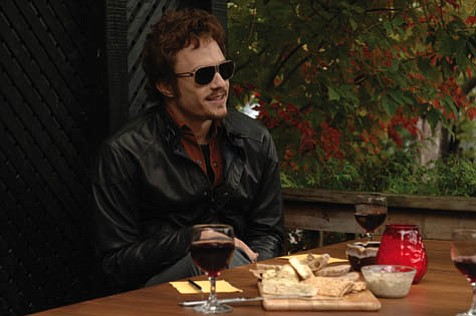 Heath Ledger is one of six actors who portray Bob Dylan in the unconventional biopic <em>I'm Not There</em>.