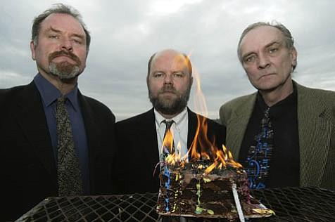 Headless Household is (from left) Tom Lackner, Joe Woodard, and Dick Dunlap.