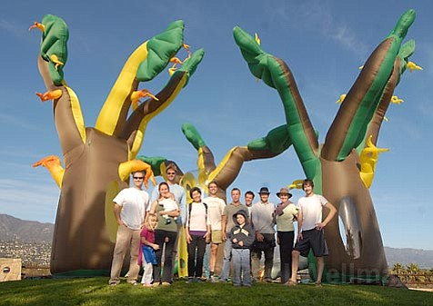 Members of the Santa Barbara-based Tropical Forest Group (pictured here at City College) are heading to the UN Climate Change Conference in Bali this week. They're bringing Pali-X-Mano's inflatable trees, which will symbolize the conference's environmental progress and are likely to hit TV screens worldwide.