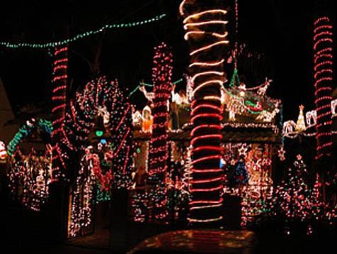 Holiday lights.