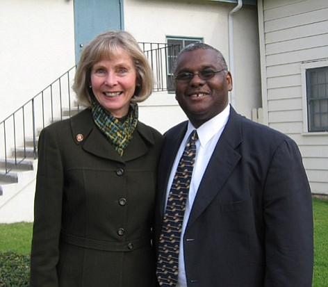 Rep. Lois Capps and Pastor Wallace Shepherd