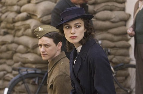 James McAvoy and Keira Knightley are ill-fated lovers in <em>Atonement</em>.