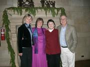 Congresswoman Lois Capps (left) at the Casa de Maria holiday concert, with Casa's director Stephanie Glatt, Vicki Riskin, and David Rintels.
