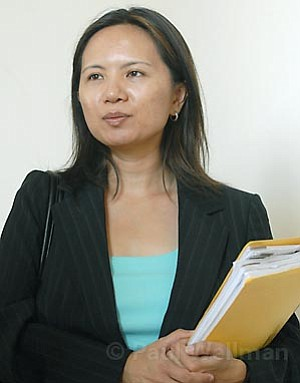 State Department of Justice criminalist Lillian Tugado (pictured) testified this week that none of defendant Eric Frimpong's DNA was found on the body of the 19-year-old woman accusing the former UCSB soccer player of raping her.