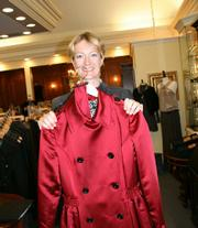 The author with the D&G coat she loves from Blue Bee.