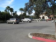 The parking lot at the Bacara near Haskell's Beach.