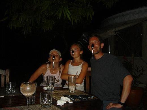 Michael and Talia Klein, with Andrea Finn (far left), at Islas Secas.