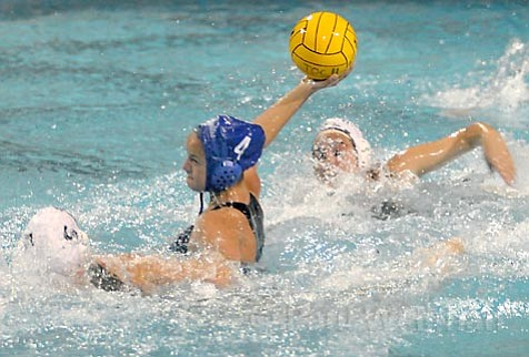 Fourteen-year-old Kiley Neushul plays for the Dos Pueblos Chargers' varsity water polo team, which beat Los Alamitos last Friday night in that weekend's Santa Barbara Tournament of Champions.