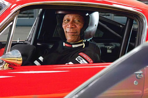 """Morgan Freeman may be smiling, but <em>The Bucket List</em> seems to pigeonhole him into the """"magical, mystical negro"""" stereotype that gives him supernatural powers that only serve to help out his white buddy."""