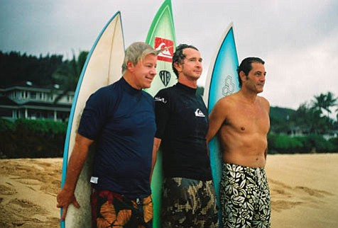 """The Surfrider Foundation hosts a happy hour with surfing legends Wayne """"Rabbit"""" Bartholomew, Mark """"MR"""" Richards, and Shaun Tomson in conjunction with the S.B. International Film Festival's premiere of the surf documentary Bustin' Down the Door."""