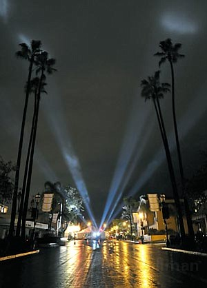 The power stayed on at the Arlington theatre for the opening night of the 23rd SBIFF. The 1200 block of State Street and neighboring Vons did not fair as well.