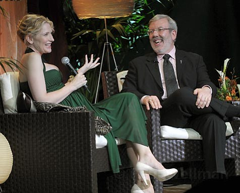 Cate Blanchett and Leonard Maltin