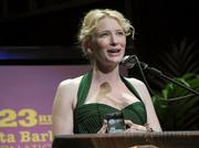 Cate Blanchett with the SBIFF Modern Master award
