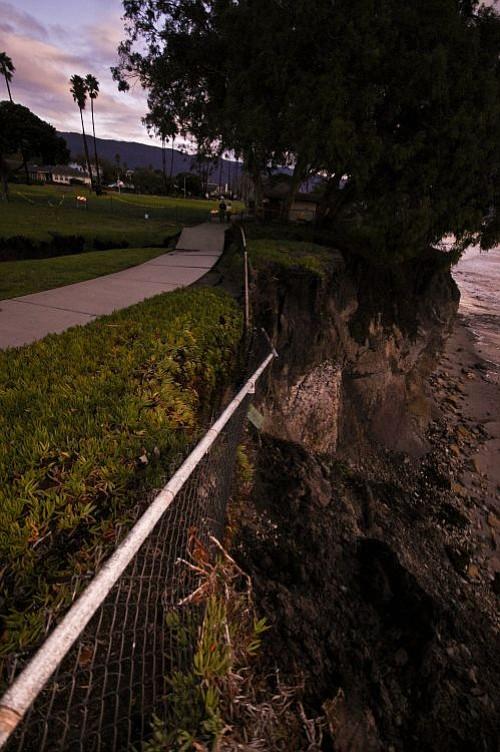 The sinkhole at Shoreline Park.