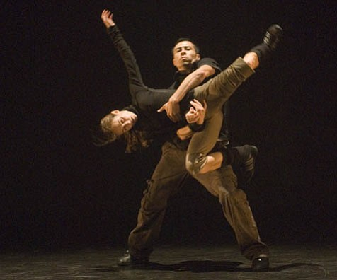 "Anne Plamondon and Victor Quijada in ""Elastic Perspective."""