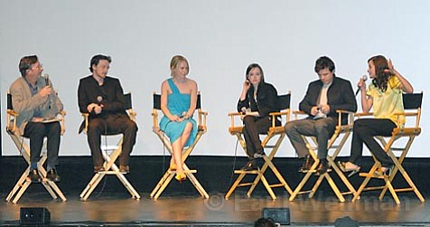 L to R Moderator Greg Kilday with honored actors James McAvoy, Amy Ryan, Ellen Page, Casey Affleck, and Marion Cotillard
