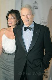 Clint Eastwood and wife Dina Ruiz on the red carpet
