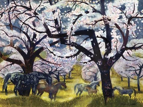 "Millard Sheets's ""Bursting Spring."""