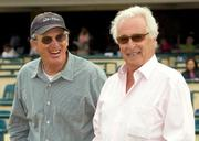 Owner Marty Wygod (right) put Gentle Romeo in the care of trainer John Shirreffs at Hollywood Park.