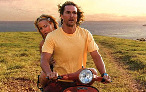 """Matthew McConaughey drives rather recklessly and Kate Hudson's on board for Fool's Gold, the """"romantic comedy"""" that's a ridiculous adventure in more ways than one."""