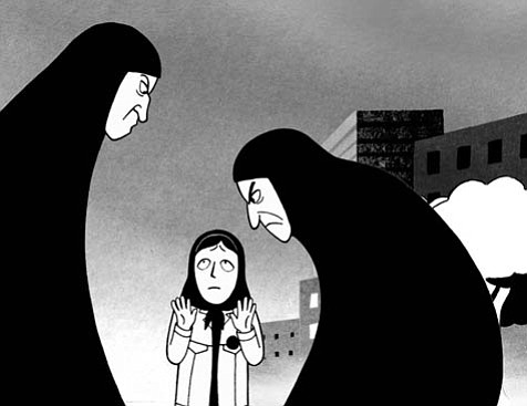 Based on Marjane Satrapi's autobiographical graphic novel, Persepolis takes another tale from the cartoony page to the big screen, only this epic tale provides cultural insights on recent Iran and a coming-of-age narrative instead of live-action he-men fighting.