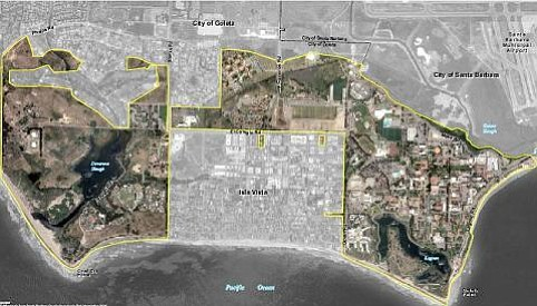 Map of existing UCSB-owned land.