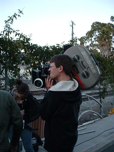 A Brooks student shoots the film.