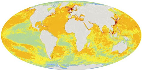 UCSB oceanic climate map