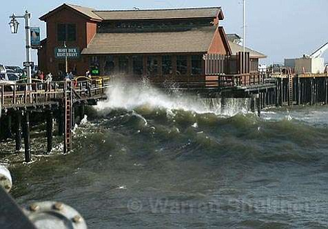 Big Waves under the Moby Dick restaurant