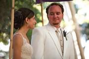 Matt and Joanna Kettmann celebrated their wedding at the Natural History Museum.