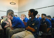 Members of the UCSB Men's Soccer team filled many seats in the courtroom
