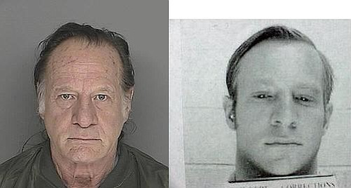 The man authorities believe to be Roger Crona in 2008 (right) and Crona in 1972.