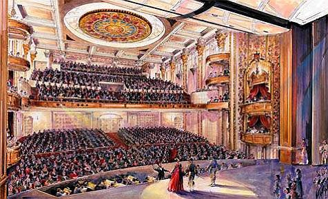 With eight new boxes and a total of 1,550 seats, the layout of the Granada resembles that of elegant theaters on Broadway and in the West End.