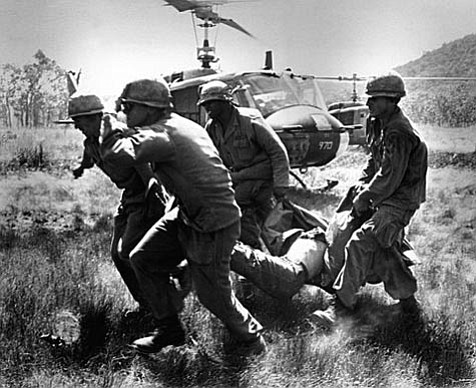 Two months after the signing of the Vietnam Peace Agreement, the last U.S. troops withdraw from Vietnam.