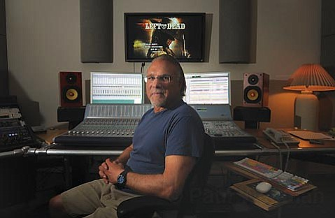 Tony Riparetti in his Sound Logic studio on Calle Cesar Ch¡vez.