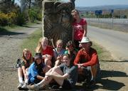 A group shot of El Camino de Santiago walkers from Santa Barbara Middle School.