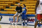 Coach French during a 2005 practice